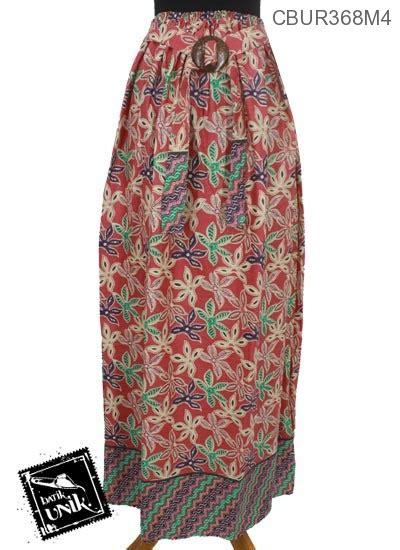 Rok Motif 4 rok batik motif warna warni bunga bawahan rok murah batikunik
