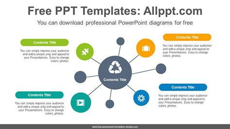 mind map template powerpoint free circle mindmap powerpoint diagram template