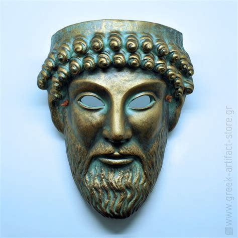 zeus ceramic handmade theatrical mask 27cm 10 62