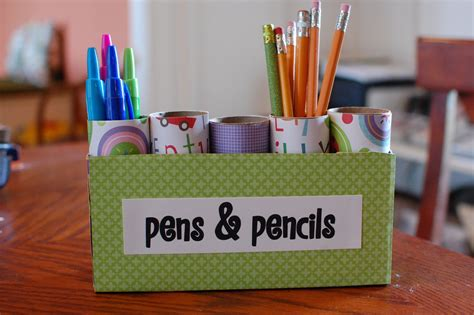 random thoughts of a supermom pen and pencil caddy kids recycling project