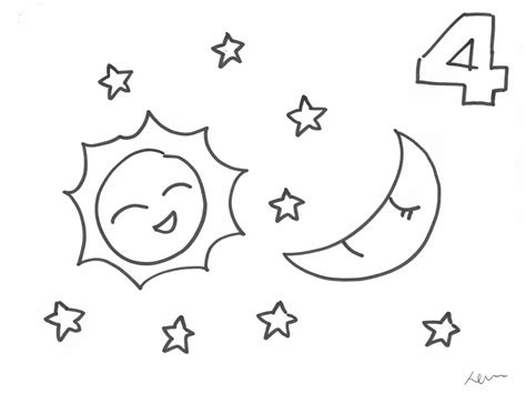 day and night coloring page for kindergarten night coloring pages vitlt com