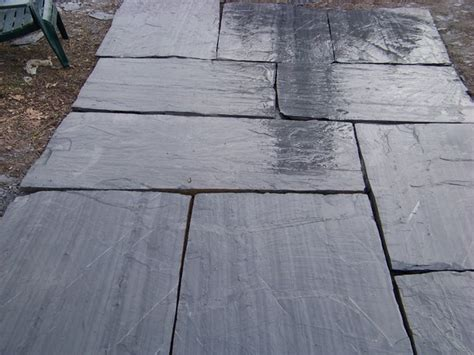 ginormous slate patio stones