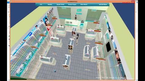 optical shop design layout meishi optical chain store virtual reality application