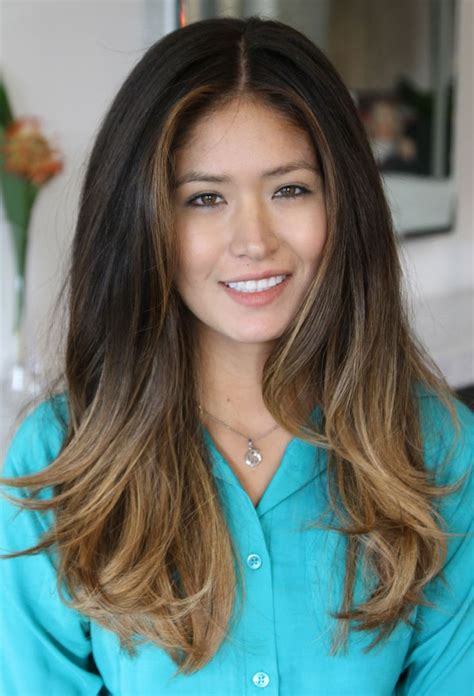 ombre hair on asian dark asian hair with ombre balayage hair pinterest