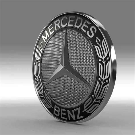 logo mercedes 3d mercedes logo 3d model from cgtrader com
