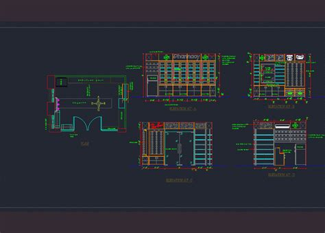 pharmacy storage detail dwg section  autocad designs cad