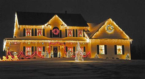 homes with christmas decorations tangled christmas lights raise the risk