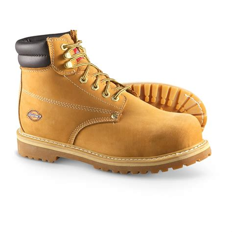 dickies boots steel toe s dickies 174 brawny 6 quot steel toe boots wheat 210191