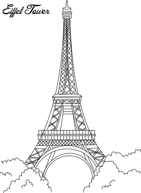 coloring page of eiffel tower free printable eiffel tower coloring pages for kids