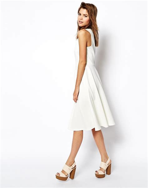 Dress Of The Day White Hoodie Dress by Lyst Asos Midi Skater Dress In Texture With High Neck In