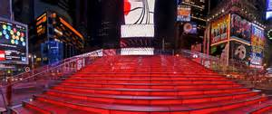 Red Stairs Nyc by Tkts Booth Red Stairs Times Square Structure Designed By