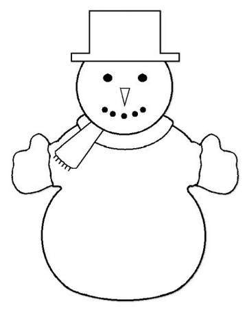 printable preschool snowman template snowman outline template invitation template