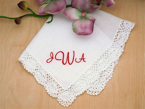 Wedding Font Initials by Monogrammed Wedding Hankie W 3 Initials Font C