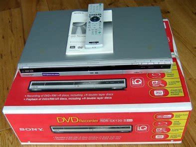dual layer format dvd player sony rdr gx120 dual format dual layer dvd recorder for