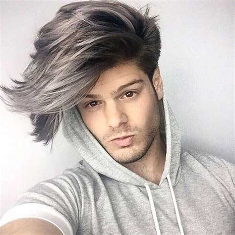 Mens Grey Hairstyles by Trendy Hair Color Ideas For Mens Hairstyles 2018