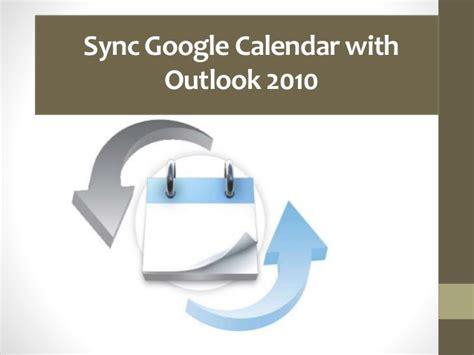 Calendar Sync Outlook 2010 Sync Calendar With Outlook 2010