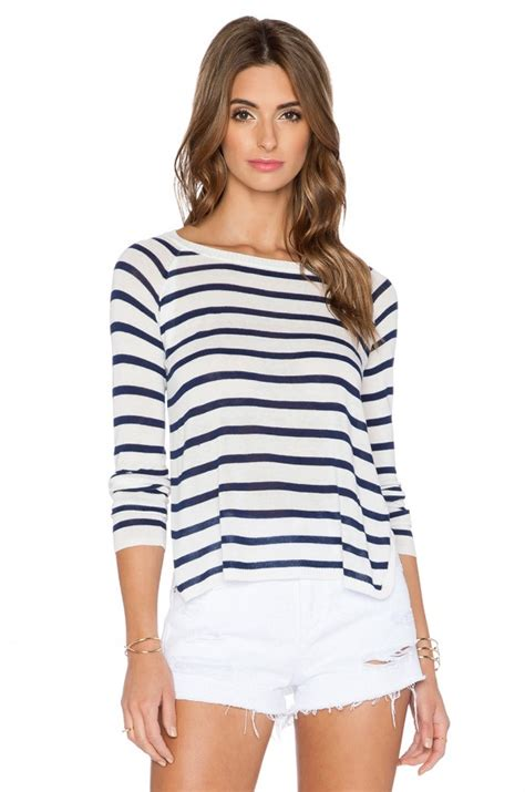Sweater Slit Premium Emeral nautical striped sweaters for summer sparkleshinylove