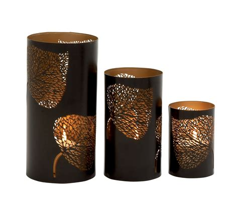 Home Interior Candle Holders by Saapni Com Adorably Styled Set Of Three Metal Candle