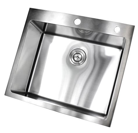 25 inch kitchen sink 25 inch top mount drop in stainless steel single bowl