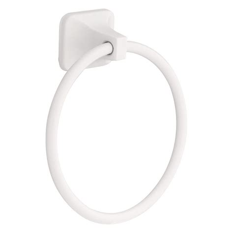 franklin brass futura towel ring in white d2416w the