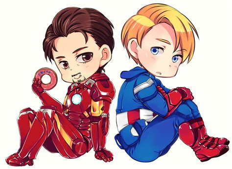Figure Captain America Ironman Chibi captain america and ironman by anubis0055 on deviantart