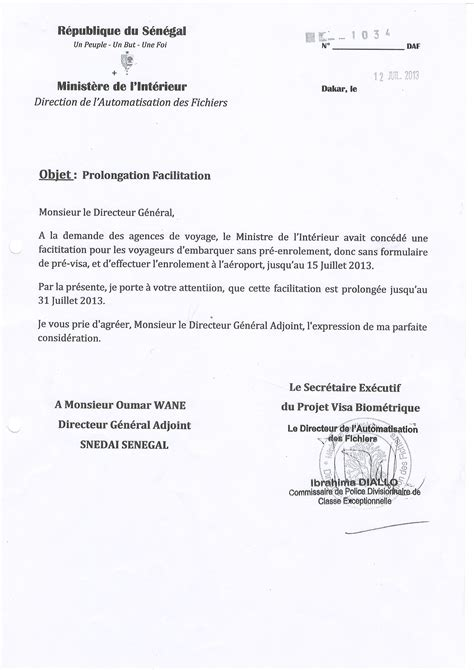 Modele De Lettre D Invitation Pour Visa Senegal Modele Invitation Visa Document