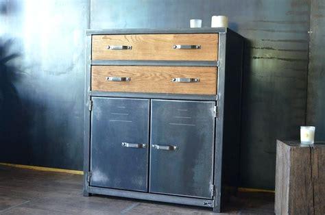 meuble rangement industriel meuble industriel metal  bois meubles de rangement industriel