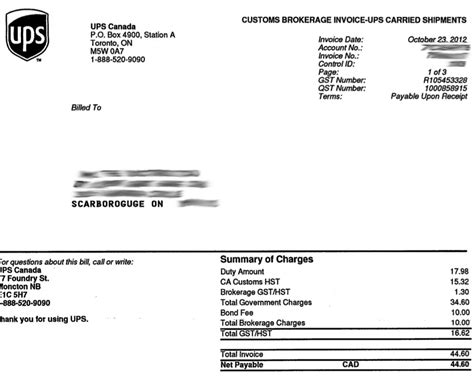 Ups Invoice Number Invoice Template Ideas Ups Commercial Invoice Template