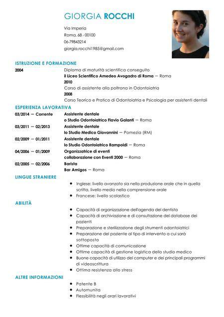 curriculum assistente alla poltrona curriculum vitae assistente dentale modello livecareer