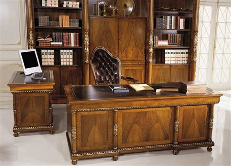 luxury desks for home office classic luxury veneered desk with 9 drawers idfdesign