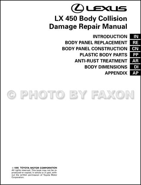 manual repair autos 1997 lexus lx on board diagnostic system 1996 1997 lexus lx 450 body collision repair shop manual