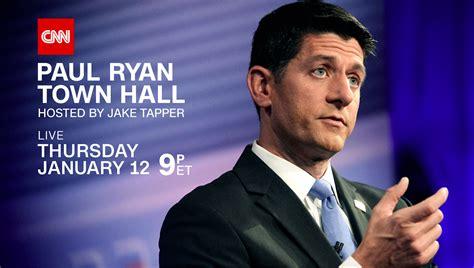 Cnn Politics Press Releases Cnn Cnn To Host Town With House Speaker Paul