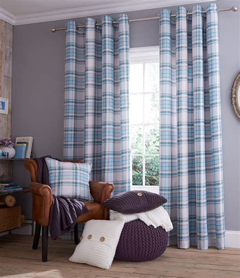 blue check curtains duck egg blue check curtains or cushion cover fully lined
