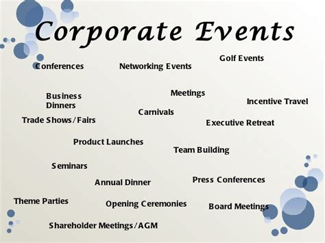 theme names for corporate events event management
