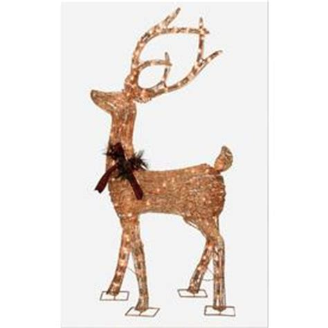 shop holiday living 5 ft christmas grapevine deer with 200
