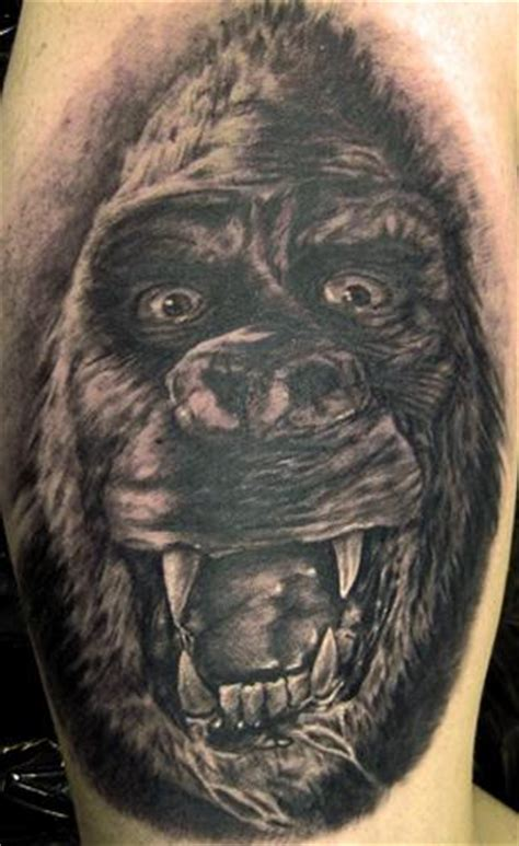 king kong tattoo king kong by pepper tattoos