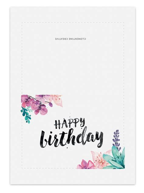 printable birthday cards from ipad printable birthday card for her clementine creative