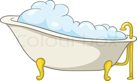 cartoon bathtub cartoon home washroom tub isolated on white background