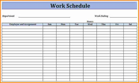 employees schedule template 4 employee work schedule template authorization letter
