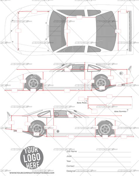 race car graphic design templates asphalt late model template srgfx