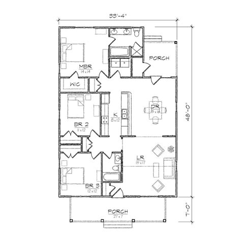 Floor Plans Bungalow Style by Home Design Single Story Open Floor Plans Small Bungalow