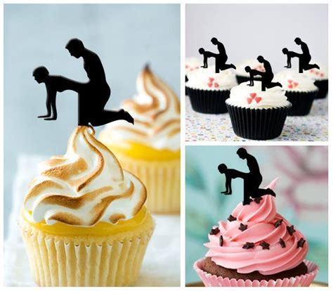 sex Silhouette Cupcake Toppers food Picks bridal shower