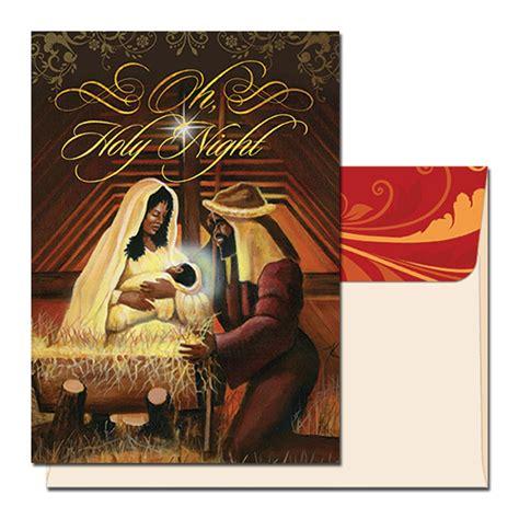 niyaecom  holy night african american christmas card
