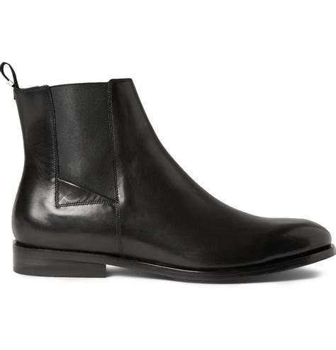 balenciaga boots mens balenciaga leather chelsea boots in black for lyst