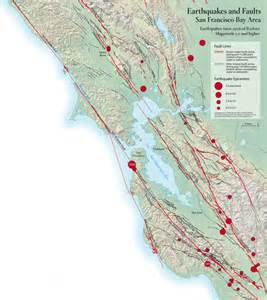 northern california fault lines map why bay nature bay nature