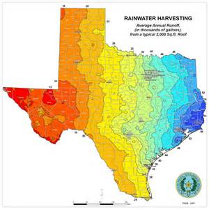 Tx Average Weather Innovative Water Technologies Rainwater Volumes From