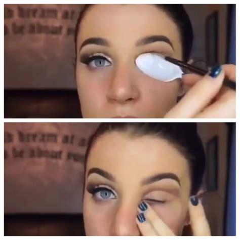 tutorial eyeliner cucchiaio use a spoon for a cut crease sweep neautral eyeshadow