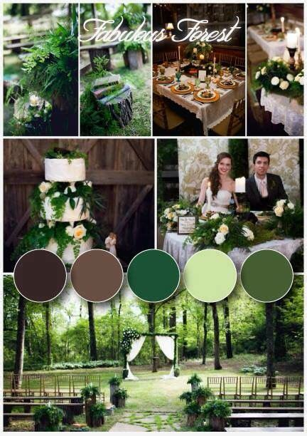 kelsey gueorguis woodland chic forest inspired wedding