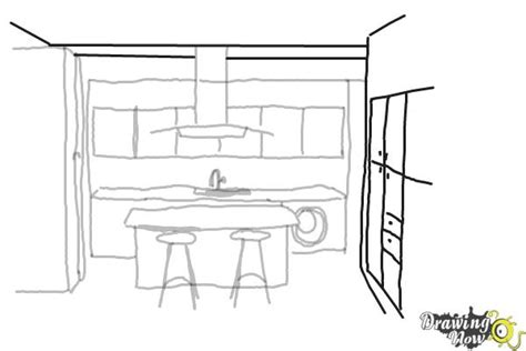 how to draw a cabinet how to draw a kitchen drawingnow