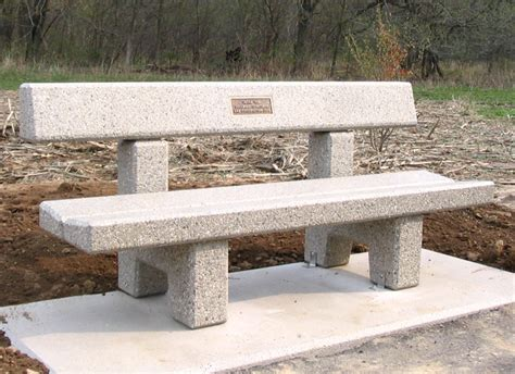 concrete memorial bench doty sons memorial benches with backs b5100m